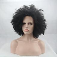 Mote Syntetiske Parykker Blonder Foran Parykker Afro Kinky Krøllete Svart Varmebestandig Hår Parykker Kvinner