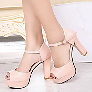 Women's Shoes Fashion All Match Chunky Heel Peep Toe / Comfort Heels Office & Career / Dress