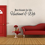 Best Friends For Life Husband And Wife Wall Sticker Art Quote Home Decor Adesivo Parede Bedroom Stickers  Decoration