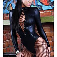 Women Sexy Lingerie Long Sleeve Bandage Catsuit
