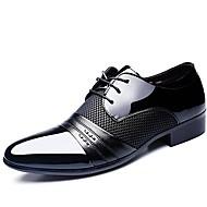 Черный / Коричневый Мужская обувь Свадьба / Для офиса / Для вечеринки / ужина Лакированная кожа Оксфорды