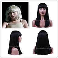 2016 Premier New Sia Wigs Full Bang Long Bob Brazilian Virgin Remy Human Hair Glueless Lace Front Wigs
