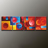 Handgeschilderde AbstractModern Vier panelen Canvas Hang-geschilderd olieverfschilderij For Huisdecoratie