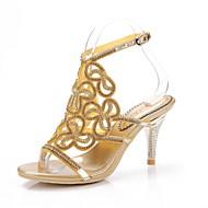 נעלי נשים - סנדלים - עור - עקבים - שחור / סגול / כסוף / זהב - שמלה / קז'ואל / מסיבה וערב - עקב סטילטו