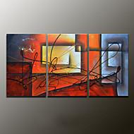 Hånd-malede AbstraktModerne Tre Paneler Canvas Hang-Painted Oliemaleri For Hjem Dekoration