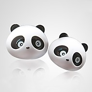 ziqiao 1 쌍의 사랑스러운 팬더 맛 자동차 공기 청정기 디퓨저 출구 마술 용품 향수