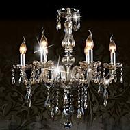 Ecolight™ 110V OR 220V 6 Lights Luxury Crystal Chandelier/Cognac Color/K9 Crystal Chandeliers Living Room / Bedroom