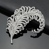 Women's Crystal Leaf Brooch for Wedding Party Decoration Scarf ,Fine Jewelry