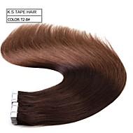 """neitsi 20 """"50g 20ks pásku v lidské prodlužování vlasů pu kůže útek vlasy rovné t2-8"""