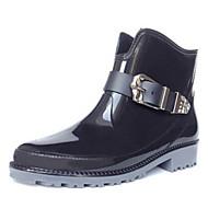 נעלי נשים - מגפיים - לטקס - מגפי גשם - שחור / אדום / Almond - שטח / קז'ואל / ספורט - עקב עבה