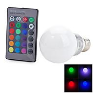 5W E26/E27 Lâmpada Redonda LED T 1 LED Integrado 100-200 lm RGB Controle Remoto / Decorativa AC 85-265 V 1 pç