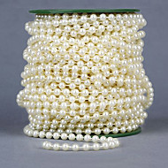 26 Meters 6mm Width Pearl Beads Chain Garland Flowers Wedding Party Decoration