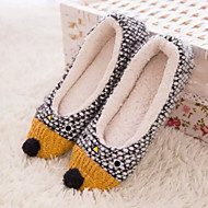 Women's Winter Pointed Toe / Comfort Fur Casual Flat Heel Black / White