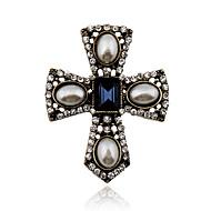 Femme Cristal Perle Imitation de perle Strass Alliage Vintage Victorien Bijoux de déclaration Forme de Croix BijouxSoirée Quotidien