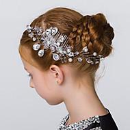 Bergkristal / Kristallen / Imitatie Parel Vrouwen / Bloemenmeisje Helm Bruiloft / Speciale gelegenheden / Outdoor Haarkammen / Bloemen