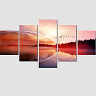 Set Of 5 Modern Canvas Art Abstract Painting Sunset Pictures Home Decor Canvas Prints