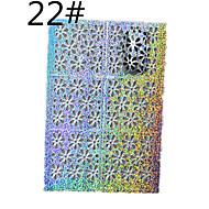 Autocolantes de Unhas 3D / Jóias de Unhas - Desenho Animado / Abstracto / Adorável - para Dedo - de Outro - com 1 sheet - 13*7.5