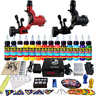 Solong Tattoo Complete Tattoo Kit 2 Pro Machine Guns 14 Inks Power Supply Foot Pedal Needles Grips Tips TK249
