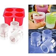 DIY עובש קרח כוס צץ תבניות ארטיק עובש יוגורט במקפיא פינוקים קפואים במקרר תיבת קרח (צבע ramdon)