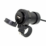 universele motor waterdicht 12V naar 5V mobiele telefoon USB-lader-poort power adapter met de auto mount houder bracket