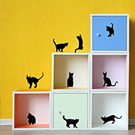 Wall Stickers Wall Decals Style Lovely Cat Waterproof Removable PVC Wall Stickers
