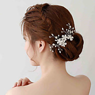 Capacete Flores / Clip para o Cabelo Casamento / Ocasião Especial Strass / Crostal / Liga / Imitação de Pérola MulheresCasamento /