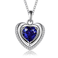 Pure Women's 925 Silver-Plated High Quality Handwork Elegant Pendant Include Necklace