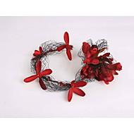נשים נערת פרחים בד רשת פלסטיק כיסוי ראש-חתונה אירוע מיוחד קז'ואל זרי פרחים חלק 1