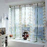 One Panel Window Hoito Eurooppalainen , Kurvi Living Room Polyesteri materiaali Läpinäkyvät verhot Shades Kodinsisustus For Ikkuna
