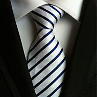 Gravata ( Azul / Branco , Poliéster ) Listrado