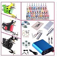 basekey kit profissional begineer tatuagem kl103 3 máquinas com apertos de alimentação 28x5ml agulhas de tinta