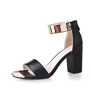 Women's Shoes Chunky Heel Open Toe Sandals Office & Career / Dress / Casual Black / White
