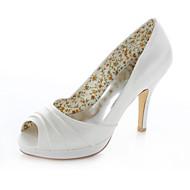 סנדלים - נשים - נעלי חתונה - עקבים / נעלים עם פתח קדמי / מעוגל - חתונה / שמלה / מסיבה וערב - שנהב