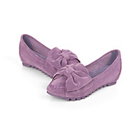 Women's Shoes Suede Flat Heel Moccasin / Round Toe / Closed Toe Flats Casual Black / Blue / Pink / Purple