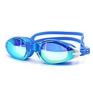 Lunettes de natation Unisexe Antibrouillard Gel de silice Polycarbonate Blanc Noir Bleu Bleu foncé Blanc Rouge Noir Bleu Bleu foncé Violet