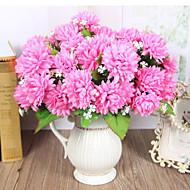 7 Köpfe hohe Qualität goldene Chrysantheme Blumen Seidenblume Seidenblume Kunstblumen für Hauptdekoration 1pc / set