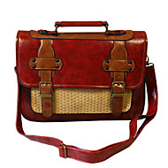 GG Retro Portable Shoulder Messenger PU Women's Bag Cross Body Bag Satchel Tote