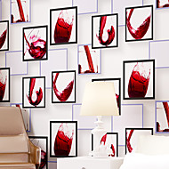 Contemporary Wallpaper Art Deco 3D Fashion Cup Wallpaper Wall Covering Non-woven Fabric Wall Art