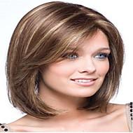 populær lang rett lys brun med strips syntetisk hår parykker