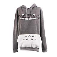 Ispirato da il mio vicino Totoro Gatto anime Costumi Cosplay Felpe Cosplay Con stampe Bianco / Grigio Maniche lunghe Cappotto