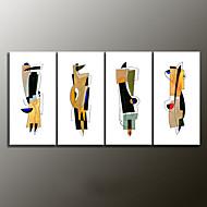 handbemalte abstrakte moderne Ölgemälde, Leinwand vier Platten