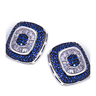Vintage / Cute / Party / Work / Casual Sterling Silver / Platinum Plated / Cubic Zirconia Stud Earrings