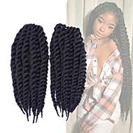 """Tresses Twist Crochet La Havane Sénégal boîtes Tresses Kanekalon Noir de jais Noir Marron foncé Extensions de cheveux45cm 51cm 56cm 24 """""""