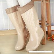 נעלי נשים-שטוחות / מגפיים-סיליקון-מגפי גשם-כחול / צהוב / ורוד / אדום-שטח-עקב נמוך
