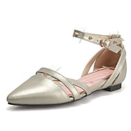Women's Shoes Flat Heel D'Orsay & Two-Piece/Pointed Toe Flats Office & Career/Dress/Casual Pink/White/Gold