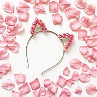 Cat Ears Headband wedding hair accessories  Kitty Crown  Flower crown Travel Accessories Headwear Accessories