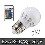 1pcs Ding Yao E27 5W 6LED SMD 5050 500lm RGB Recessed Retrofit Remote-Controlled / Decorative LED Globe Bulbs AC 85-265V