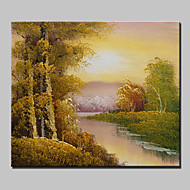 20x25cm을 중단 할 준비가 프레임 캔버스 하나의 패널에있는 미니 사이즈의 손으로 그린 풍경 현대 유화