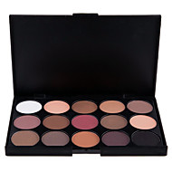 15 Colors Eyeshadow Palette Professional 2in1 Natural Matte&Shimmer Smoky Eyeshadow/Eyebrow Powder Cosmetic Palette(2 Color Choose)