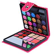 32 cores da sombra do olho pressionado pó gloss 4em1 blush embalagem coleção de maquiagem carteira